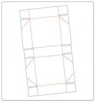 Mатрица за машина за изрязване и релеф - Подаръчна кутия - Размери 30.5 / 32.4 / 1.6 cm