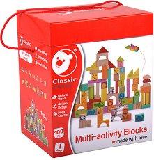 Детски дървен конструктор - играчка