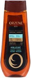 Orzene Beer Hyalucare Shampoo Britle + Fine Hair - Шампоан за тънка и склонна към накъсване коса - тоник