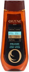 Orzene Beer Hyalucare Shampoo Britle + Fine Hair - Шампоан за тънка и склонна към накъсване коса - серум