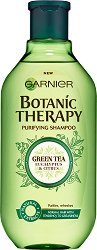 Garnier Botanic Therapy Green Tea & Eucalyptus & Citrus Shampoo - Шампоан за нормална, склонна към омазняване коса със зелен чай, евкалипт и цитрус - продукт