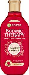 Garnier Botanic Therapy Cranberry & Argan Oil Shampoo - Шампоан за боядисана коса с червена боровинка и арганово масло - дамски превръзки