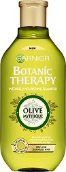Garnier Botanic Therapy Olive Mytique Intensely Nourishning Shampoo - Подхранващ шампоан за суха и увредена коса с масло от маслина - балсам