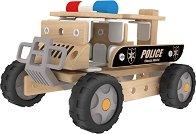 Полицейски автомобил - Детски дървен конструктор - играчка
