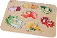 Зеленчуци - Детски дървен пъзел - пъзел