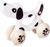 Кученце - Бебешка дървена играчка -