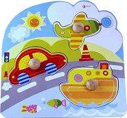 Транспорт - Детски дървен пъзел -