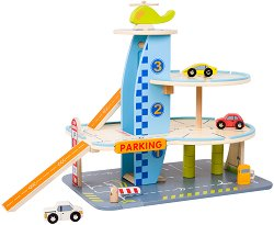 Дървен паркинг на 3 нива - играчка