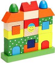 Къщичка - Дървена играчка за нанизване -