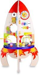 Дидактическа ракета - Детска дървена образователна играчка - играчка