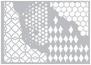 Щанци за машина за изрязване и релеф - Текстури - Комплект от 4 броя с размери от 6.4 до 11.4 cm