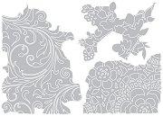 Щанци за машина за изрязване и релеф - Флорални мотиви - Комплект от 3 броя с размери от 6.4 до 11.7 cm
