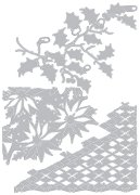 Щанци за машина за изрязване и релеф - Коледни мотиви - Комплект от 3 броя с размери от 7 до 10.8 cm