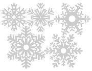 Щанци за машина за изрязване и релеф - Хартиени снежинки - Комплект от 5 части с размери от 4.8 до 7.6 cm