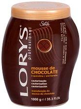 Lorys Professional Hair Cream Chocolate Mousse & Keratin - Овлажняваща крем маска за боядисана и третирана коса с какаово масло и кератин - маска