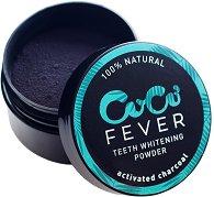 Coco Fever Teeth Whitening Powder - Избелваща пудра за зъби с активен въглен - душ гел