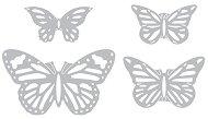 Щанци за машина за изрязване и релеф - Пеперуди - Комплект от 4 броя с размери от 2.5 до 8.3 cm