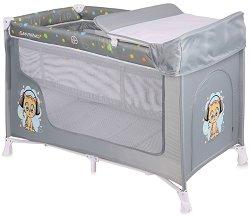 Сгъваемо бебешко легло на две нива - San Remo 2 Layers - Комплект с повивалник -