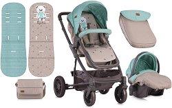 Бебешка количка 2 в 1 - S 500 Set 2018 - С 4 колела -