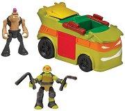 """Микро мутанти - Party Van - Комплект от серията """"Костенурките нинджа: Микро убежища"""" -"""