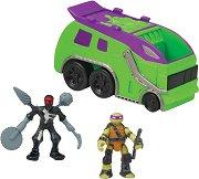"""Микро мутанти - Trash Truck - Комплект от серията """"Костенурките нинджа: Микро убежища"""" - играчка"""