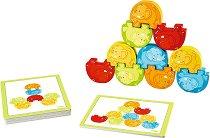 Слончета акробати - Образователна играчка за сортиране - фигура