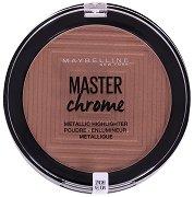 Maybelline Master Chrome Metallic Highlighter - Хайлайтър за лице с хроматичен ефект - маска