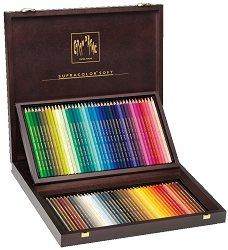 """Цветни акварелни моливи в дървена кутия - Supracolor - Комплект от 80 цвята от серията """"Artist"""""""