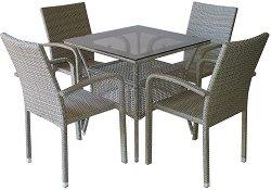 Комплект градински мебели - 59-45-1 - Имитация на ратан
