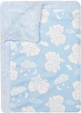 Бебешко микрофибърно одеяло - Меченце - Размери 80 x 110 cm - продукт
