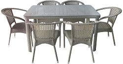 Комплект градински мебели - 220-341-2 - Имитация на ратан