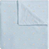 Бебешко микрофибърно одеяло - Точки - Размери 80 x 110 cm -