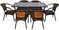 Комплект градински мебели - 220-45-2 - Имитация на ратан