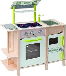 Детска кухня с две лица - Инке - Дървена играчка -