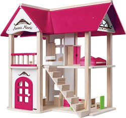 Дървена къща за кукли - Анна Мария - В комплект с аксесоари -