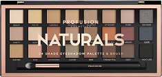 """Profusion Cosmetics Artistry Collection Naturals - Палитра с 24 цвята сенки за очи и четка от серията """"Artistry Collection"""" - шампоан"""