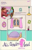 """Къщата на Минилина - Картонен модел със стикекери от серията """"NICI: Wonderland"""" -"""