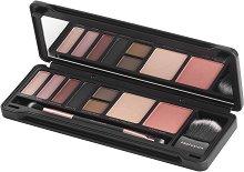 Profusion Cosmetics Glam Face Eye & Face Makeup Case - Палитра с грим за очи и скули - сенки, пудра хайлайтър, руж и четки - продукт
