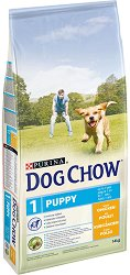 Dog Chow with Chicken Puppy Up To 1 Year - Суха храна с пилешко месо за кученца на възраст до 1 година - чувал от 14 kg -