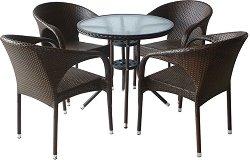 Комплект градински мебели - 290-4125B - Имитация на ратан