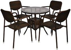 Комплект градински мебели - 214-46-1 - Имитация на ратан