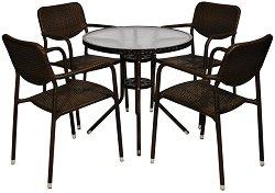 Комплект градински мебели - 214-4125B - Имитация на ратан