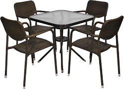 Комплект градински мебели - 214-4125A - Имитация на ратан