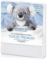 Непромокаем протектор за матрак - Premium Tencel - С подарък двойнодишаща непромокаема пелена - 70 x 60 cm -