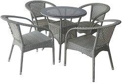 Комплект градински мебели - 220-46-1 - Имитация на ратан