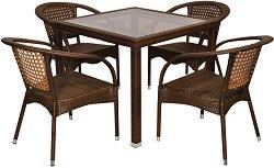 Комплект градински мебели - 220-156-1 - Имитация на ратан