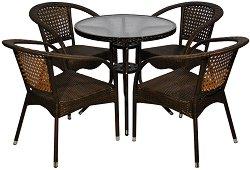 Комплект градински мебели - 220-4125B - Имитация на ратан