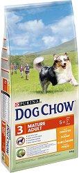 Dog Chow with Chicken Mature Adult 5+ Years - Суха храна с пилешко месо за кучета в зряла възраст над 5 години - чувал от 14 kg -