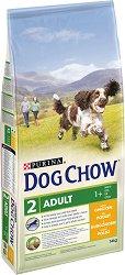Dog Chow with Chicken Adult 1+ Years - Суха храна с пилешко месо за кучета в зряла възраст над 1 година - чувал от 14 kg -