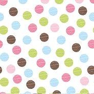Салфетки за декупаж - Цветни точки - Пакет от 20 броя